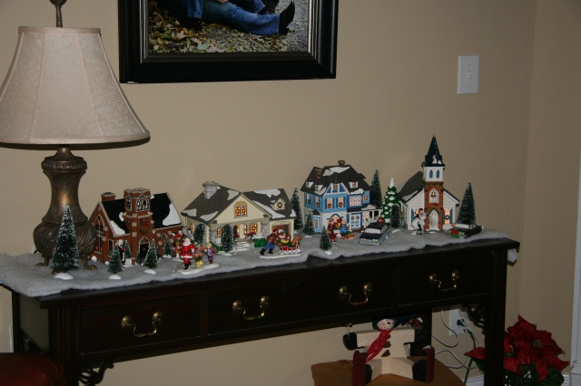Our Christmas village from my parents.