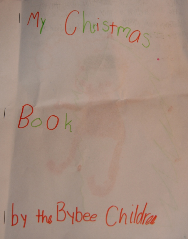 My Christmas Book by the Bybee Children