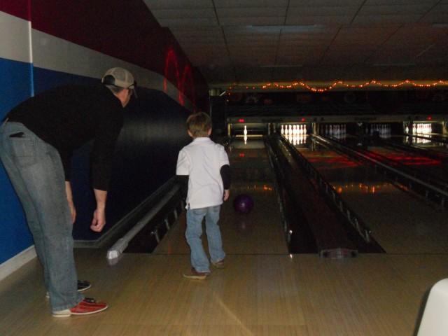 Jackson bowling with Jason