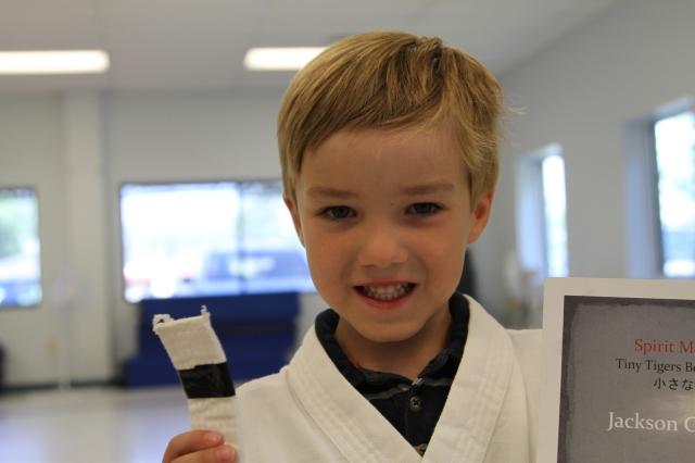 Jackson is proud of his black stripe.